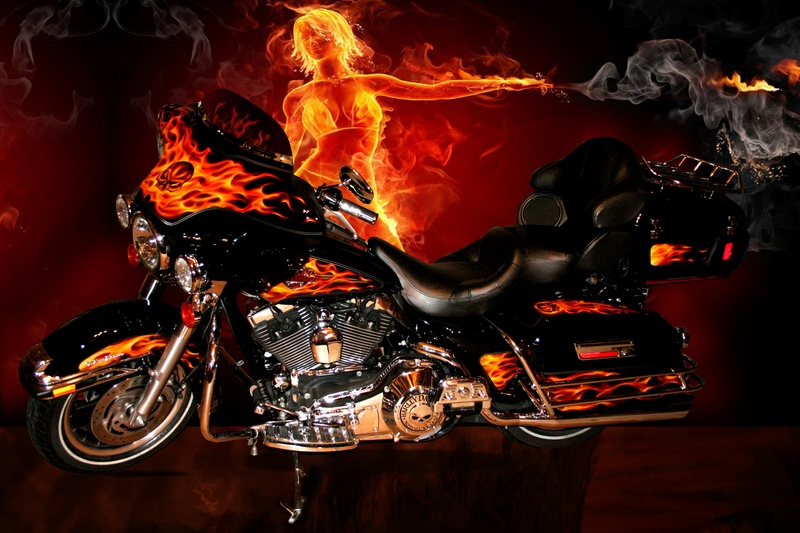 Real Flame Paint Jobs Motorcycles
