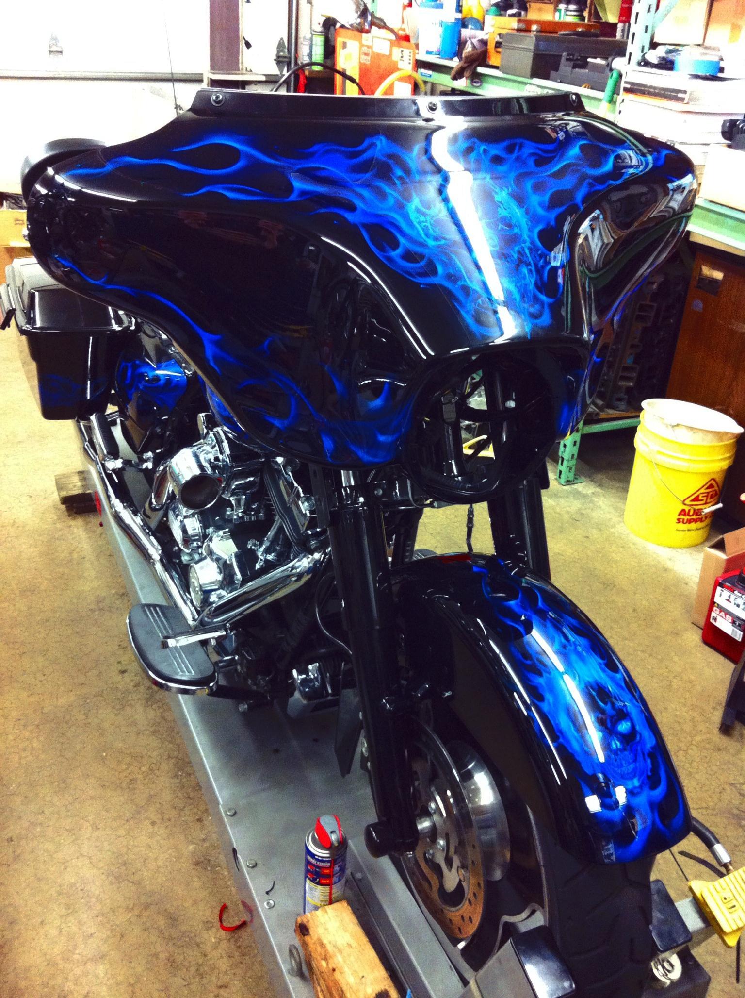 Custom Bagger Motorcycle Paint Jobs Wonderful Custom Bagger Paint